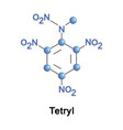 tetryl explosive compound vector image