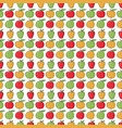 the pattern of red green yellow apples vector image vector image