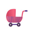toy buggy flat girlish vector image vector image