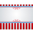 usa background with stars and decorative frames vector image vector image