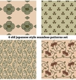 Vintage Japan-style Seamless Patterns set vector image vector image