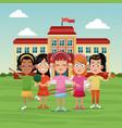 school children sport image vector image