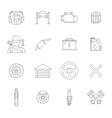 Auto service line icons set vector image