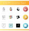 abstract art movements icons set vector image