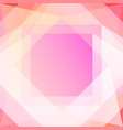 abstract gem pink geometric background vector image vector image