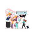 airport concept for web banner website vector image vector image
