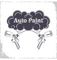 auto paint gun monochrome vector image vector image