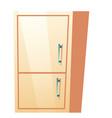 bathroom cabinet kitchen refrigerator vector image vector image