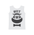 best dad - typography or t-shirt graphics vector image vector image