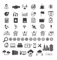 big data and business icons set vector image vector image