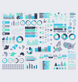 big set infographic elements with maps and vector image vector image