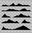 black and white mountain vector image