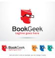 book geek logo template vector image vector image