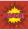 boxing punch pop art isolated vector image vector image