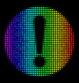 bright dot problem icon vector image vector image