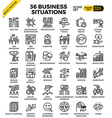 business situation icons vector image vector image