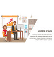 businessman and personal assistant banner template vector image vector image