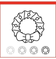 Christmas icon - wreath vector image vector image