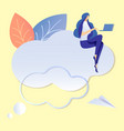 cloud technology abstract flat vector image