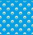 clown head pattern seamless blue vector image
