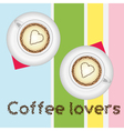 Coffee lovers card vector image