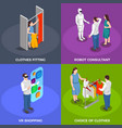 consumers isometric concept icons set vector image vector image