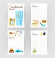 cookbook recipe kitchen cookbook card page vector image