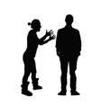 couple black silhouette in various poses vector image vector image