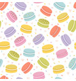 cute seamless pattern with french macaroons hand vector image