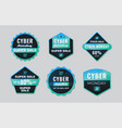 cyber monday label collection with chip icon vector image vector image