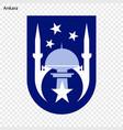 emblem of ankara vector image