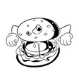 fast food unhealthy eating concept black vector image