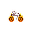 fire bike logo icon design vector image