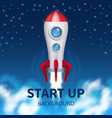 fired up space rocket retro booster shuttle vector image