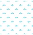 Fish pattern cartoon style vector image vector image