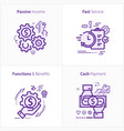 flat design icon passive income fast service vector image