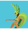 flat geometric design of dancing samba queen vector image vector image