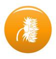 garden sunflower icon orange vector image