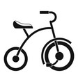girl tricycle icon simple style vector image vector image