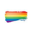 grunge rainbow flag isolated on white background vector image vector image