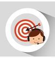 guy operator help service target vector image vector image