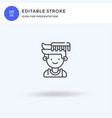 hair style icon filled flat sign solid vector image vector image