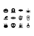 halloween icon set solid style symbols for vector image vector image