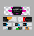 horizontal black web banner templates with place vector image vector image