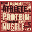 Importance of Protein for Athletes text background vector image vector image