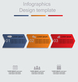 Infographics with arrows elements and icons vector image vector image