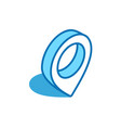 location mark isometric icon position locality vector image