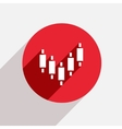modern binary options red circle icon vector image