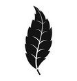 narrow toothed leaf icon simple style vector image vector image