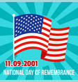 national remembrance american day background flat vector image vector image